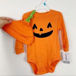 Carters Jack-o-lantern 6m Baby Bodysuit Hat Set